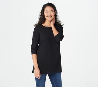 Denim & Co. Jersey Boatneck Long-Sleeve Tunic