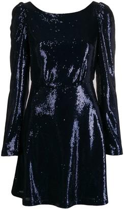 Black Coral sequin-embellished mini dress