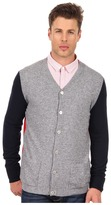 Balmain Pierre Color Block Wool Cardigan (Multicolor) - Apparel