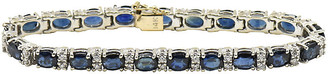 One Kings Lane Vintage Sapphire & Diamond Tennis Bracelet - Owl's Roost Antiques