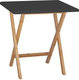 DREW 2 seat bamboo and lacquer folding dining table