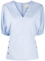 3.1 Phillip Lim balloon sleeved V-neck blouse