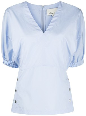 3.1 Phillip Lim balloon sleeved V-neck blouse