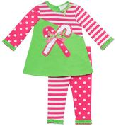 Rare Editions candy cane top & leggings set - baby