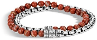 John Hardy Classic Chain Silver Box Chain Double Wrap Bracelet