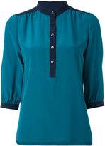 Vanessa Seward mandarin neck shirt - women - Silk - 38