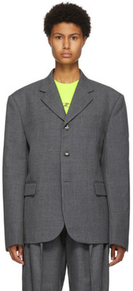 we11done Grey Three-Button Classic Blazer