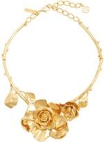 Oscar de la Renta Rosette necklace