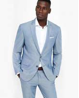 Express blue oxford cloth photographer suit jacket