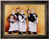"KitchenArt ""Haute Cuisine II"" Framed Canvas Wall Art by Tracy Flickinger"