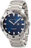Perry Ellis Deep Diver Navy Stainless Steel Watch