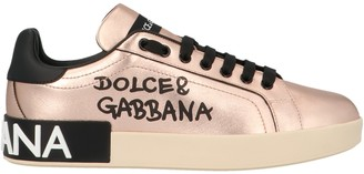 Dolce & Gabbana Portofino Logo Print Sneakers
