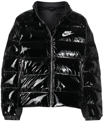 Nike Wet-Look Padded Jacket
