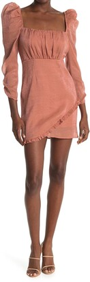 ASTR the Label Ruched Bust Puff Sleeve Dress