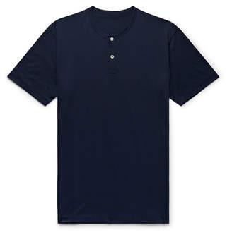 Handvaerk Pima Cotton-Jersey Henley T-Shirt