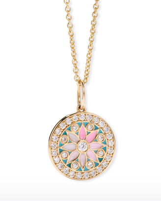 Sydney Evan 14k Yellow Gold Kaleidoscope Diamond Charm Necklace