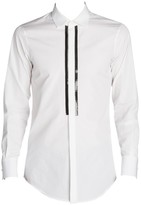 DSQUARED2 Slim Fit Chic Beaded Poplin Sport Shirt
