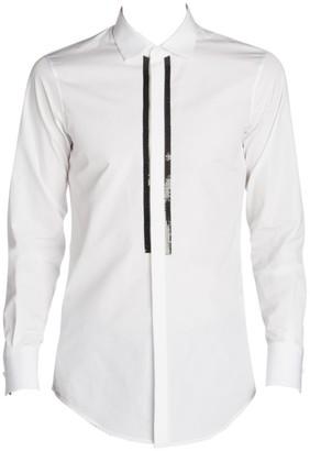 DSQUARED2 Slim Fit Chic Beaded Poplin Sport Shirt