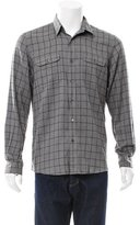 Timo Weiland Windowpane Flannel Shirt