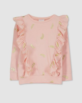 Milky Feather Frill Tee - Babies