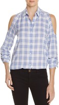 Generation Love Plaid Cold Shoulder Shirt