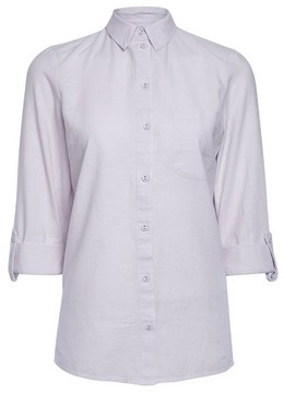 Dorothy Perkins Womens Lilac Linen Look Shirt, Lilac