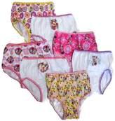 Disney Handcraft Little Girls' Minnie Seven-Pack of Brief Underwear