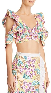 All Things Mochi Saba Cold-Shoulder Crop Top