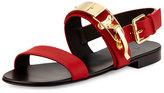 Giuseppe Zanotti Men's Ski-Buckle Leather Strap Sandal