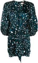Alexandre Vauthier leopard print draped dress