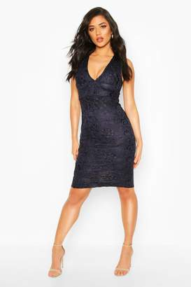 boohoo Plunge Midi Dress