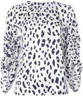 Tibi cheetah printed blouse