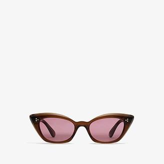Oliver Peoples Bianka (Espresso/Purple) Fashion Sunglasses