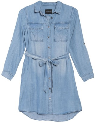 Velvet Heart Ada Chambray Waist Tie Utility Dress