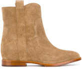 Ash low wedge boots