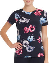 Ellen Tracy Printed Short Sleeve T-Shirt