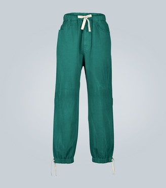 Gucci Loose denim jogging pant with Web