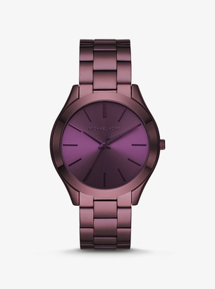 Michael Kors Slim Runway Lavender-Tone Watch