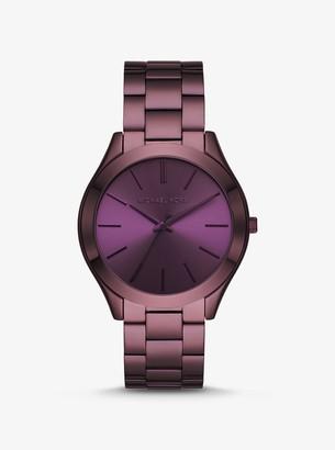 Michael Kors Slim Runway Lavender-Tone Watch