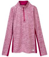 New Balance Long Sleeve Quarter Zip Performance Top (Big Girls)