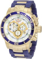 Invicta Men's Corduba Chronograph Blue Polyurethane and 18k Plated Watch 10619