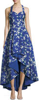 Alice + Olivia Harper Sweetheart Floral-Print High Low Evening Ball Gown