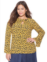 ELOQUII Plus Size Printed Flare Sleeve Top