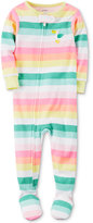 Carter's 1-Pc. Striped Pelican Footed Pajamas, Baby Girls (0-24 months)