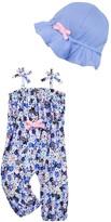 Isaac Mizrahi Ditsy Floral Jumpsuit & Sunhat (Baby Girls 0-9M)