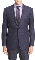Armani Collezioni Men's Classic Fit Plaid Wool Sport Coat