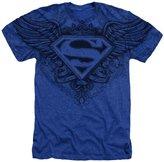 Superman Man of Steel Winged Logo DC Comics Sublimated Adult Heather T-Shirt Tee