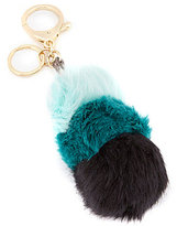 Kate Landry Faux-Fur Pom Pom Stack Key Chain
