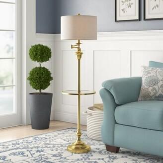 """Charlton Home Waldenburg 60"""" Novelty Floor Lamp Base Finish: Brass Gold"""