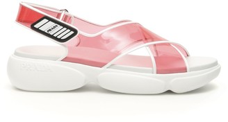 Prada Cloudbust Ankle Strap Sandals